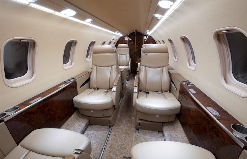 2008 lear 45xr aircraft cabin