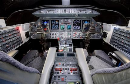 2008 lear 45xr aircraft cockpit