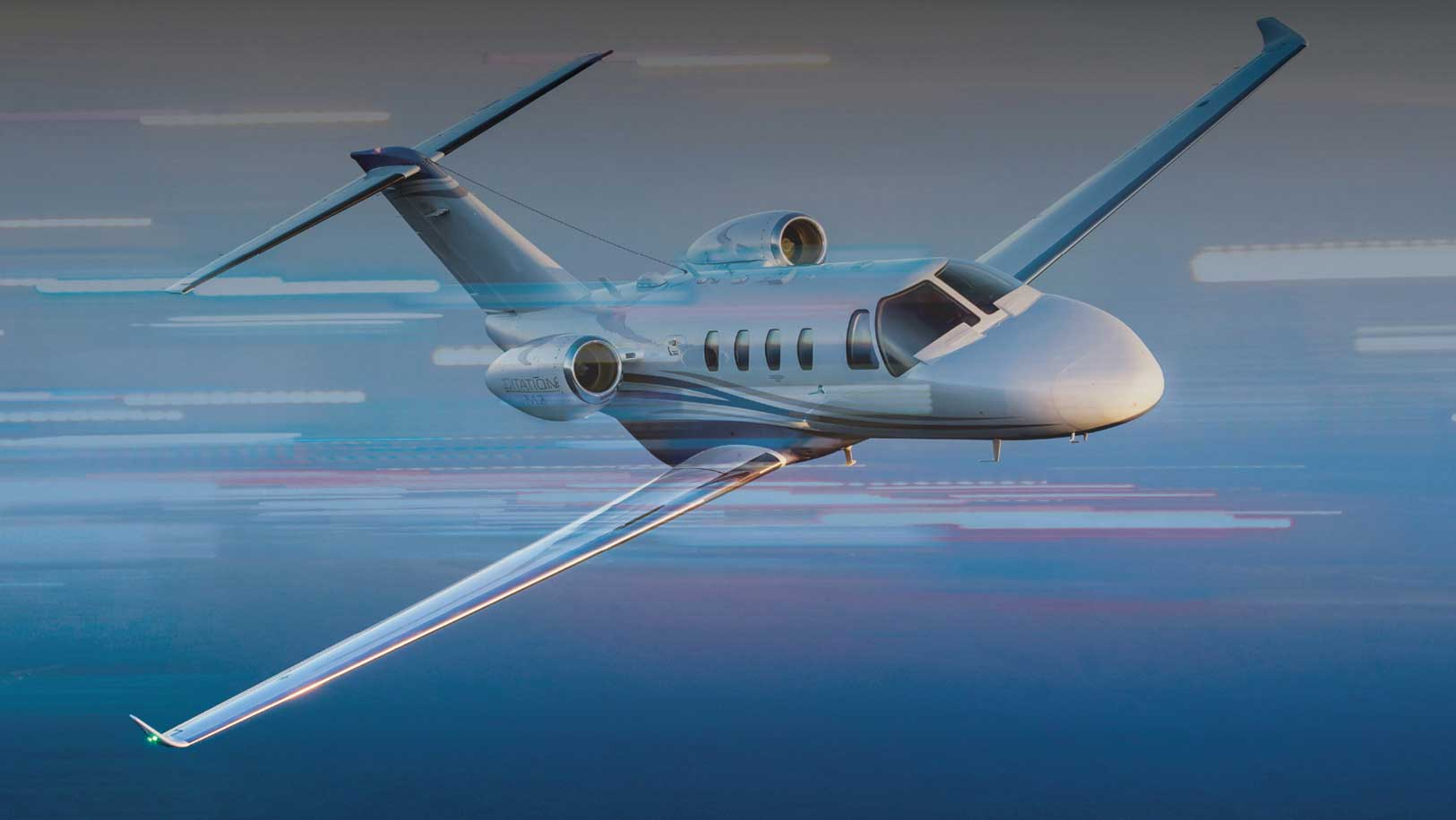 citation jet flying