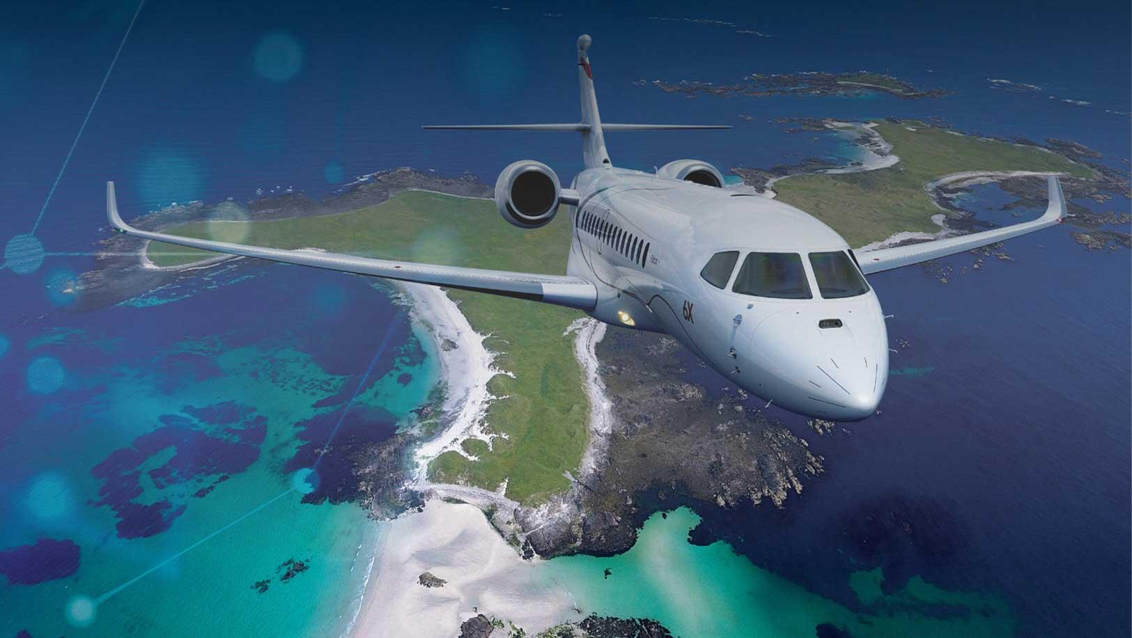 dassault 6x jet flying