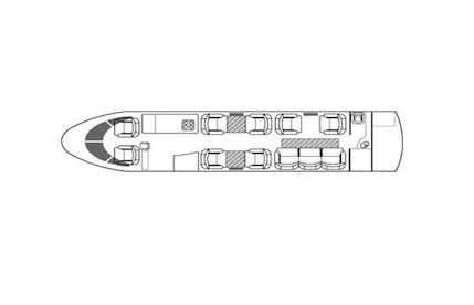 2004 gulfstream g200 aircraft cabin diagram